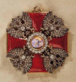 Order of Saint Alexander Nevsky, Type III, Civil Division, Cross (with diamonds)
