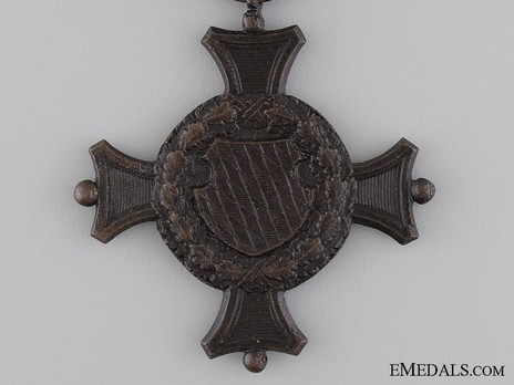 Military Long Service Decoration, II Class Cross (in blackened bronze) Reverse