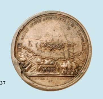 Capture of Riga Table Medal (in bronze) reverse