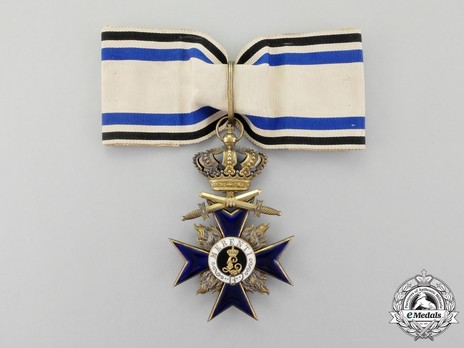 Order of Military Merit, Military Division, II Class Cross (with crown) Obverse