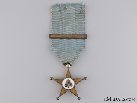 Gold Star (with one clasp, 1910-1956) Obverse