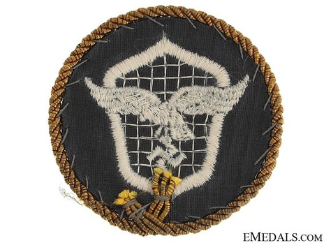 Motorized Support Troops of the Luftwaffe Badge with Gold Cord Reverse