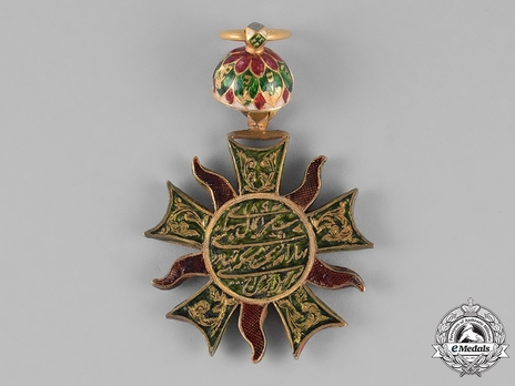 Order of the Propitious Star of Punjab, II Class Badge Reverse