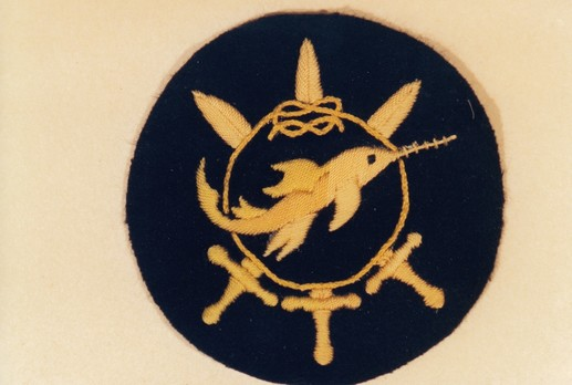 Naval Combat Badge of Small Battle Units, IV Class Obverse