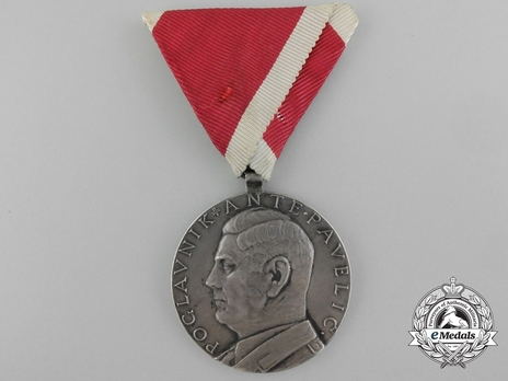 Ante Pavelic Large Silver Bravery Medal