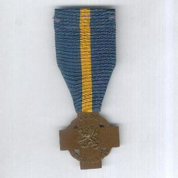 Bronze Cross Reverse with Ribbon