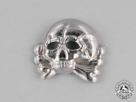 Waffen-SS Metal Cap Death's Head Type I (nickel-silver) Obverse