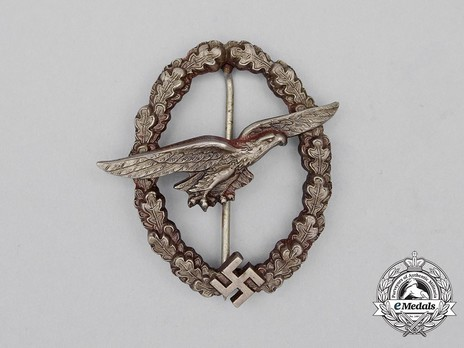Glider Pilot Badge, by C. E. Juncker (in tombac) Obverse