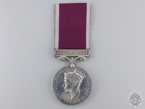 Silver Medal (for Regular Army, 1937-1948) Obverse