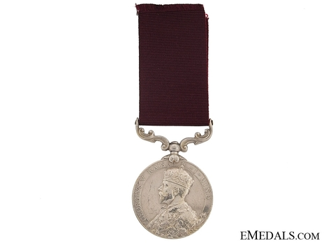 Silver Medal (with King George V Kaisar-I-Hind effigy) Obverse