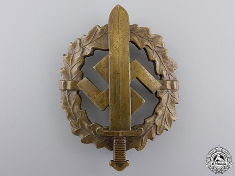 SA Sports Badge, Type I, in Bronze Obverse