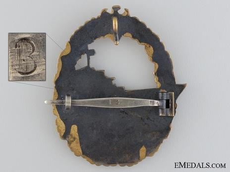 Destroyer War Badge, by W. Deumer (marked version) Reverse
