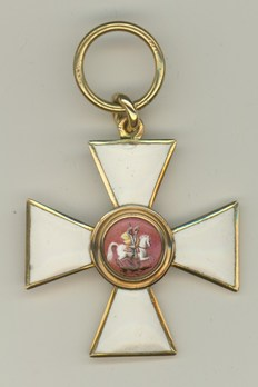 Order of Saint George IV Class Badge (in gold) Obverse