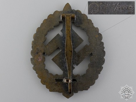 SA Sports Badge, Type III, for War Wounded Reverse