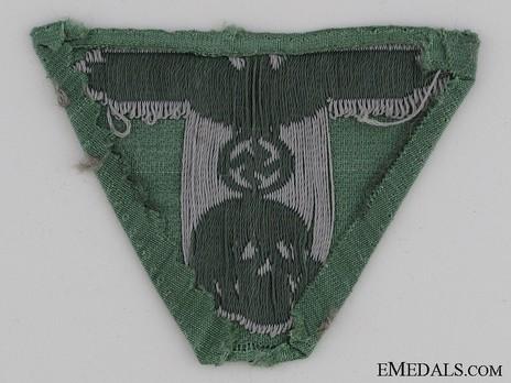 Waffen-SS One-Piece Eagle & Death's Head Insignia Reverse