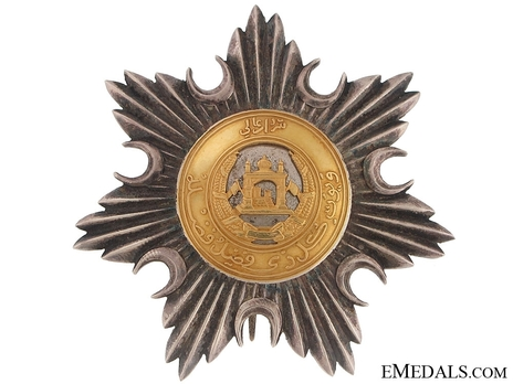 Order of Independence (Nishan-i-Istiqlal), Civil Division, I Class Grand Cordon Breast Star (with silver and gold, c.1960) Obverse