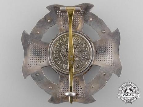 Hungarian Military Order of Maria Theresa, Grand Cross Breast Star Reverse
