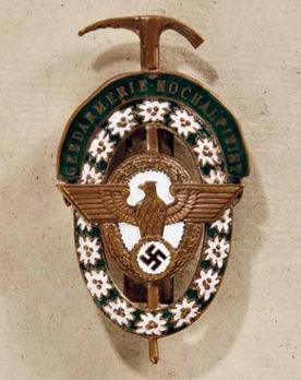 Gendarmerie High-Altitude Mountain Guide Badge Obverse
