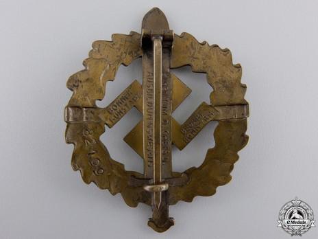 SA Sports Badge, Type I, in Bronze Reverse