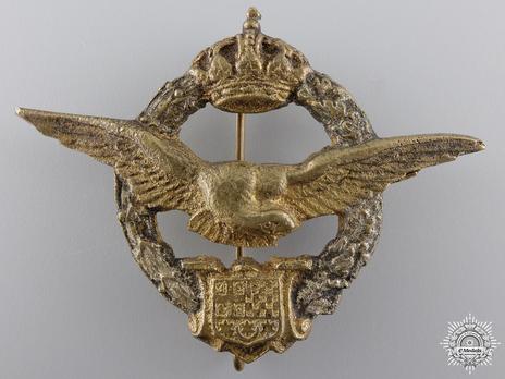 Yugoslavian Pilot's Badge for Egypt Obverse