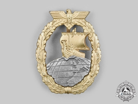 Naval Auxiliary Cruiser War Badge, by Förster & Barth Obverse