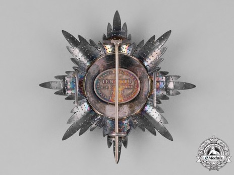 Order of the Redeemer, Type II, Grand Officer's Breast Star Reverse