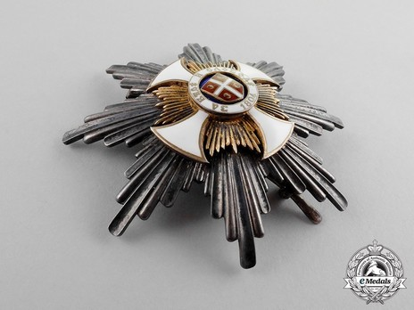 Order of the Star of Karageorg, Civil Division, I Class Breast Star Obverse