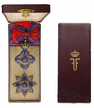 Grand Cross (Civil Division, 1877-1932) Case of Issue Interior and Exterior