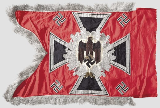 German Army General Army Unit Flag (Artillery Motorized and Mounted version) Reverse