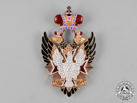Order of the White Eagle, Type I, Civil Division, Badge (in Gold)