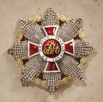 Order of Leopold, Type III, Military Division, Grand Cross Breast Star