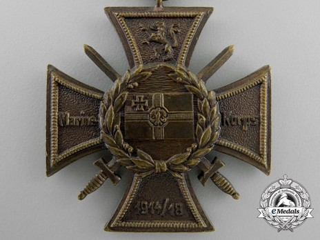Commemorative Honour Cross of the Navy Corps, Flanders Reverse