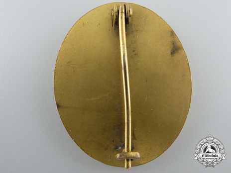 Wound Badge, in Gold Reverse