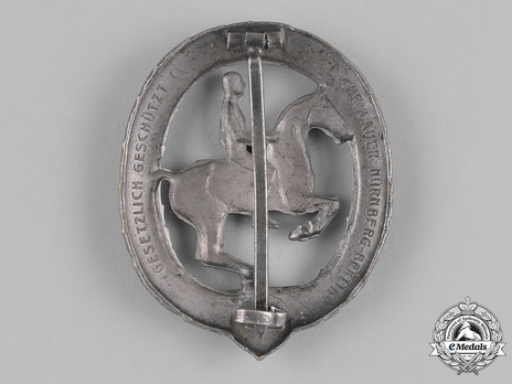 German Horseman's Badge, in Silver Reverse