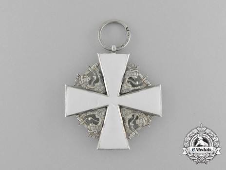 Order of the White Rose, II Class Knight Cross, Civil Division Reverse