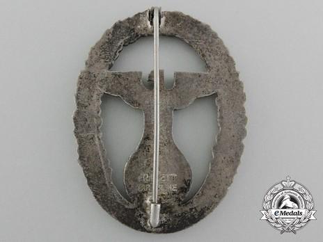 Gau Honour Badge Baden, in Silver, Large Reverse