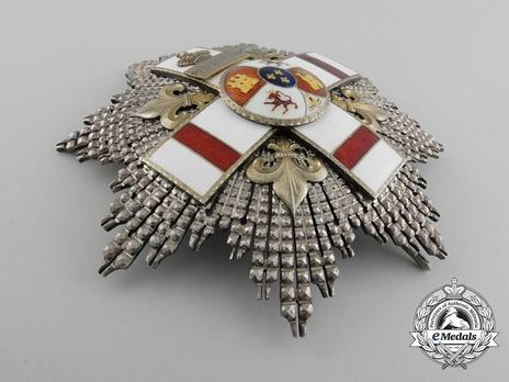 2nd Class Breast Star (white distincion pension) (with Fleur de Lys and Royal Crown) (PROFESORADO) Obverse