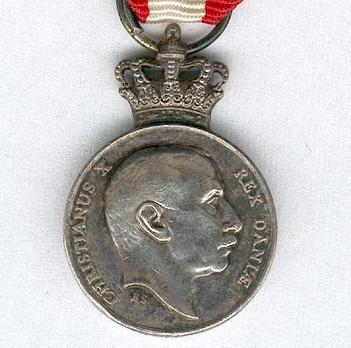 "Miniature Silver Medal (stamped ""H. SALOMAN"") Obverse"
