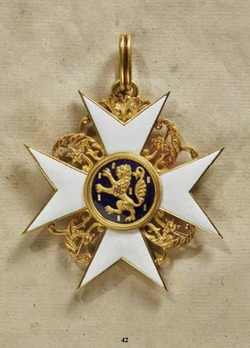 House Order of the Golden Lion, Cross (1858-1866)