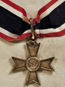 Golden Knight's Cross of the War Merit Cross without Swords, by Deschler Reverse