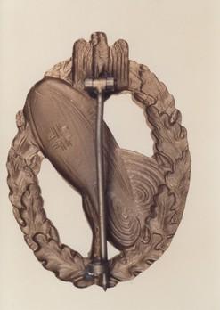 Balloon Observer Badge, in Bronze Obverse