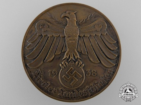 Tyrolean Marksmanship Gau Achievement Badge, Type I, in Bronze Obverse