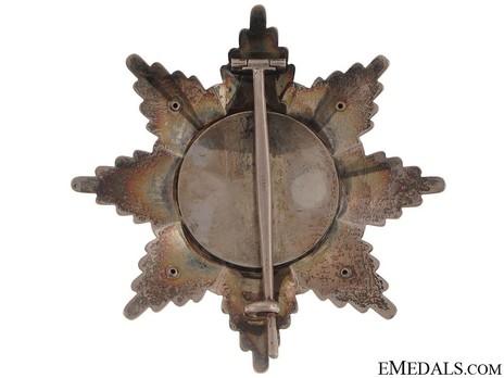 Order of St. Alexander, Type III, Grand Cross Breast Star (with swords) Reverse