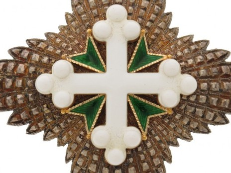 Order of St Maurice and St. Lazarus, Grand Officer's Cross Breast Star Obverse
