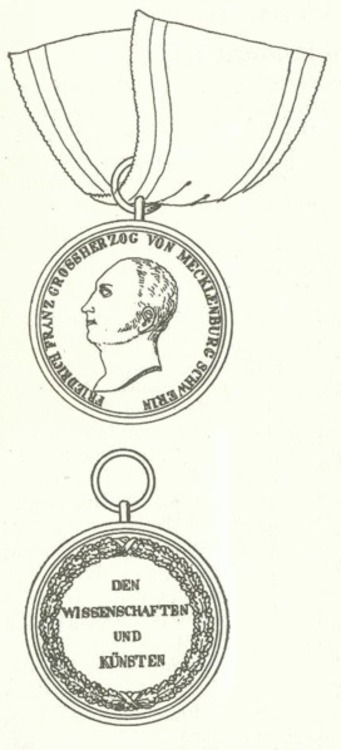 Medaille fur wissenschaften und kunsten mecklenburg schwerin1