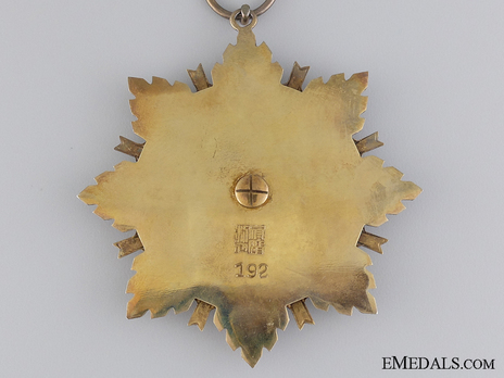 Order of the Brilliant Star, I Class Sash Badge Reverse