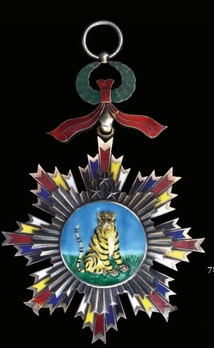 Order of the Striped Tiger, I Class Sash Badge