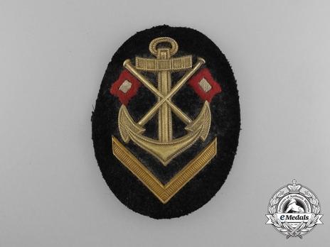 Kriegsmarine Obermaat Signal Insignia (metal) Obverse