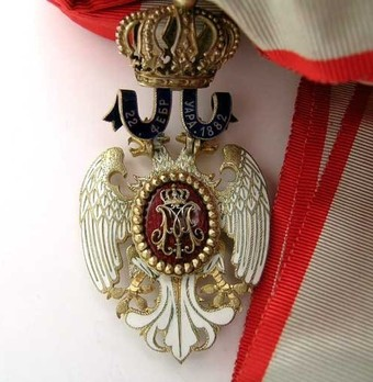 Order of the White Eagle, Type I, Civil Division, I Class Reverse