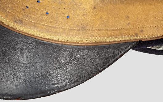 Kriegsmarine Blue Administrative Officials Visor Cap Sweatband Detail